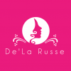 Reverse version of logo for De La Russe